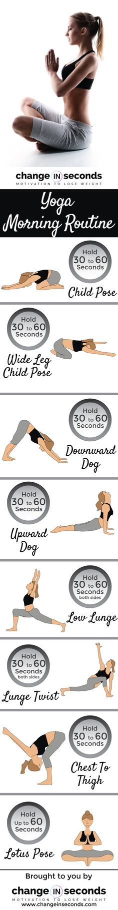 Yoga Morning Routine (Download PDF) https://www.changeinseconds.com/yoga-morning-routine/