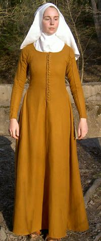 Historiska Världar - Dräkter - Borgarkvinna slutet av 1300-talet