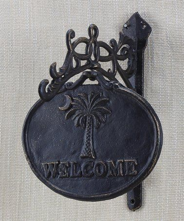This Palmetto Moon 'Welcome' Wall Art is perfect! #zulilyfinds