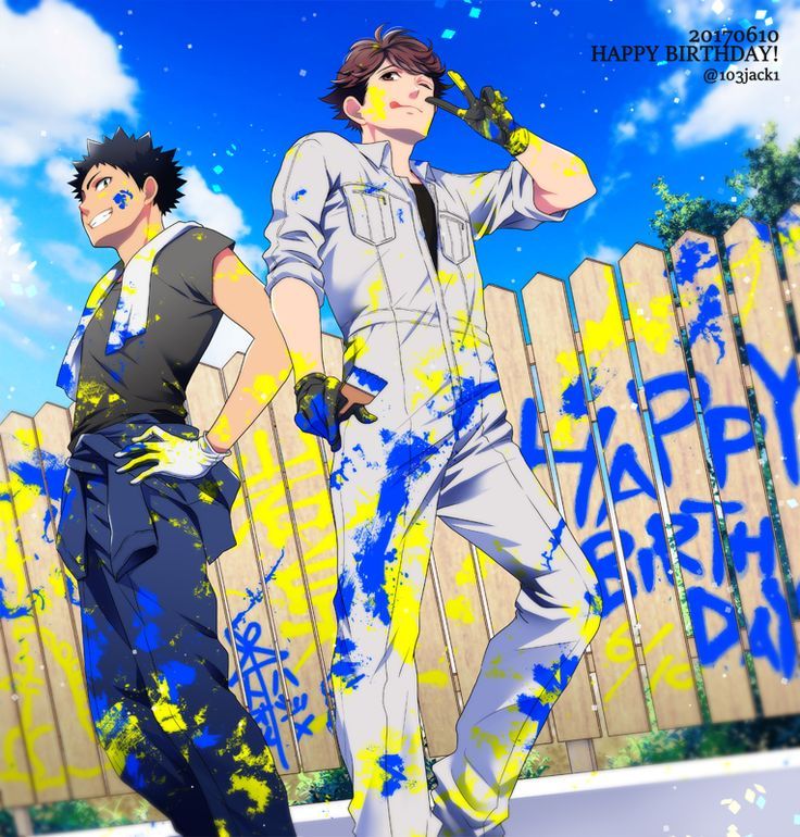 This is just an awesome tribute to Iwaizumi and Oikawa! /// Haikyuu volleyball anime aoba johsai