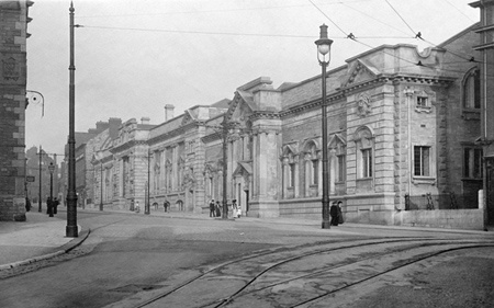Old photo of Museum And Free Library c1910, Plymouth