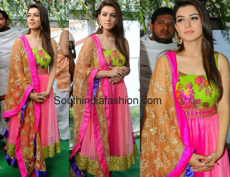 Charming hansika in pinky