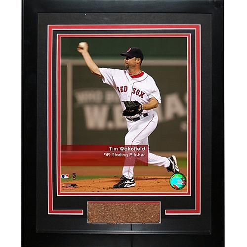 "Steiner Sports MLB Red Sox Tim Wakefield ""Feel the Game"" Framed Photo with Game Used Dirt"