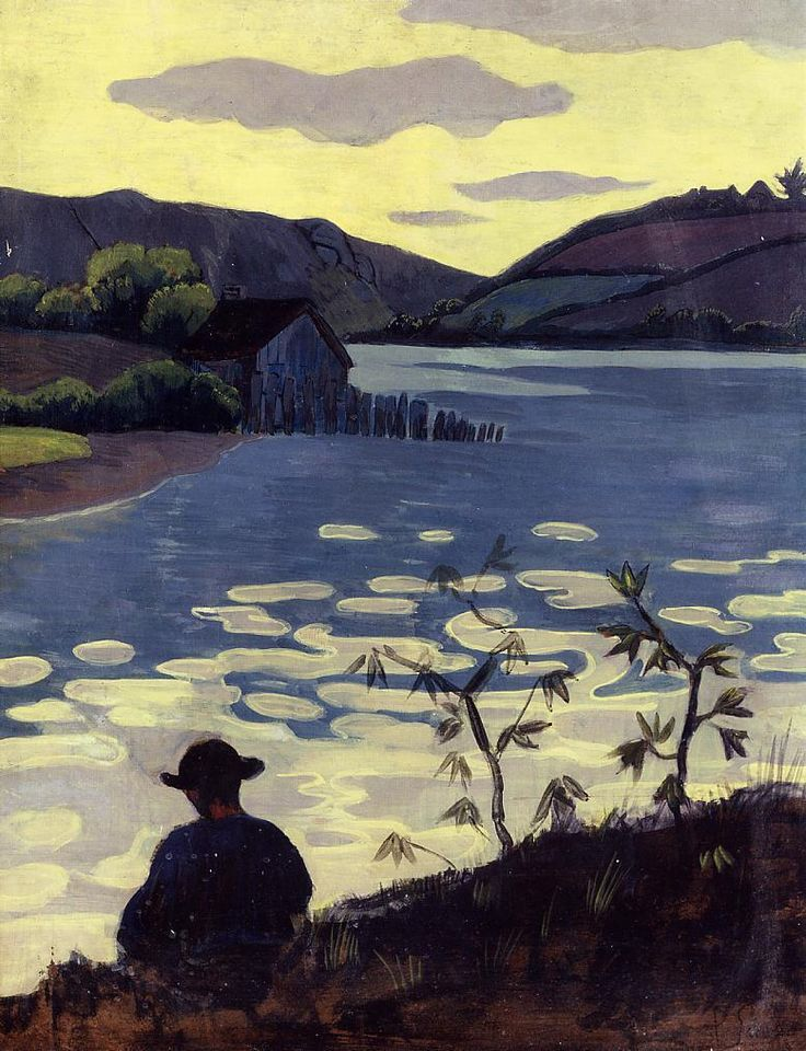Fisherman on the Laita by @paulserusier #synthetism