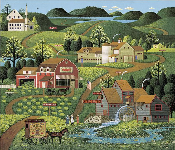 Burma Road by Charles Wysocki 1982 (can be found American Celebration page 169, #1in Legacy Series released 2003, Amcal copyright)