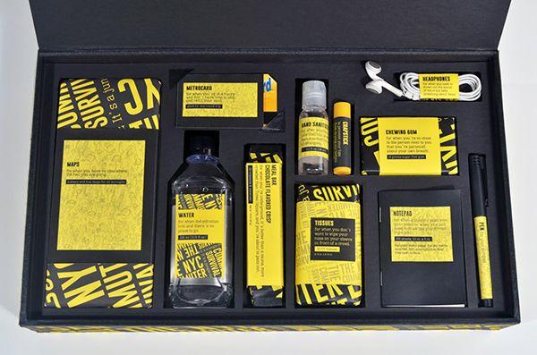 survival kit in a box #graphic #survival #zombie #apocalypse #simple #box #black #yellow #essential