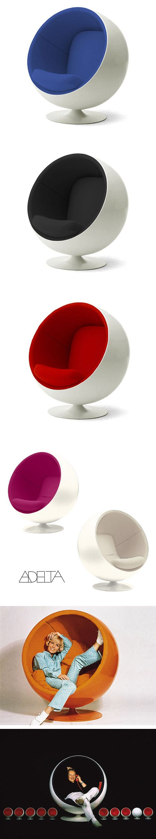 Perfect Eero Aarnio: Modern Design Space Age Ball Chair Click Image For Additional  Pictures Code: