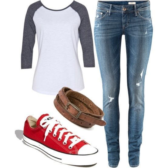 cute clothes by regina.vetter.5 so simple yet cute at the same time
