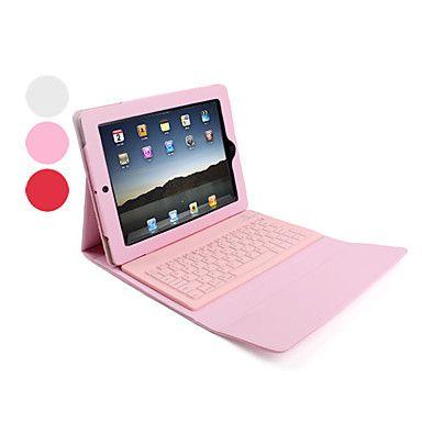 lederen tas hoes met draadloze Bluetooth-toetsenbord voor iPad (verschillende kleuren) – € 42.94