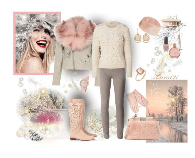 winter by lumi-21 on Polyvore featuring RED Valentino, River Island, Jacob Cohёn, Valentino, Fendi, Kate Spade, Monet, Topshop, Accessorize and Jane Iredale