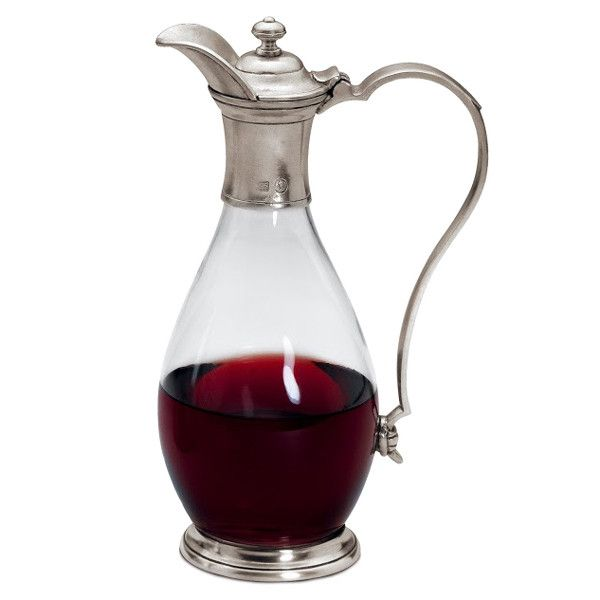 Velletri Decanter (with handle) - 1 L - Handcrafted in Italy - Pewter