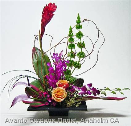 ikebana arrangements   Bright Ikebana Arrangement