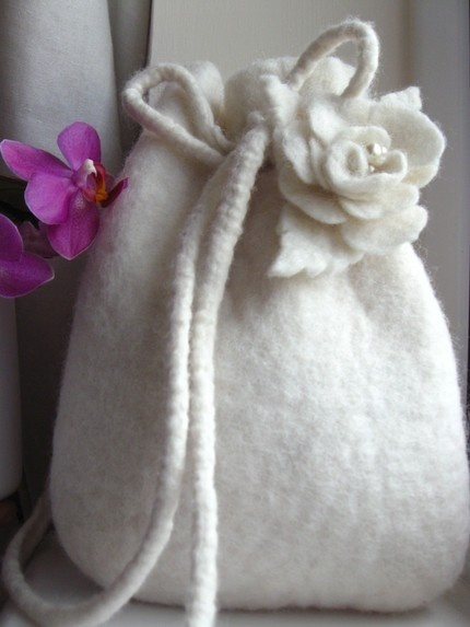 felted bag - perfect for special occasions instead of a clutch