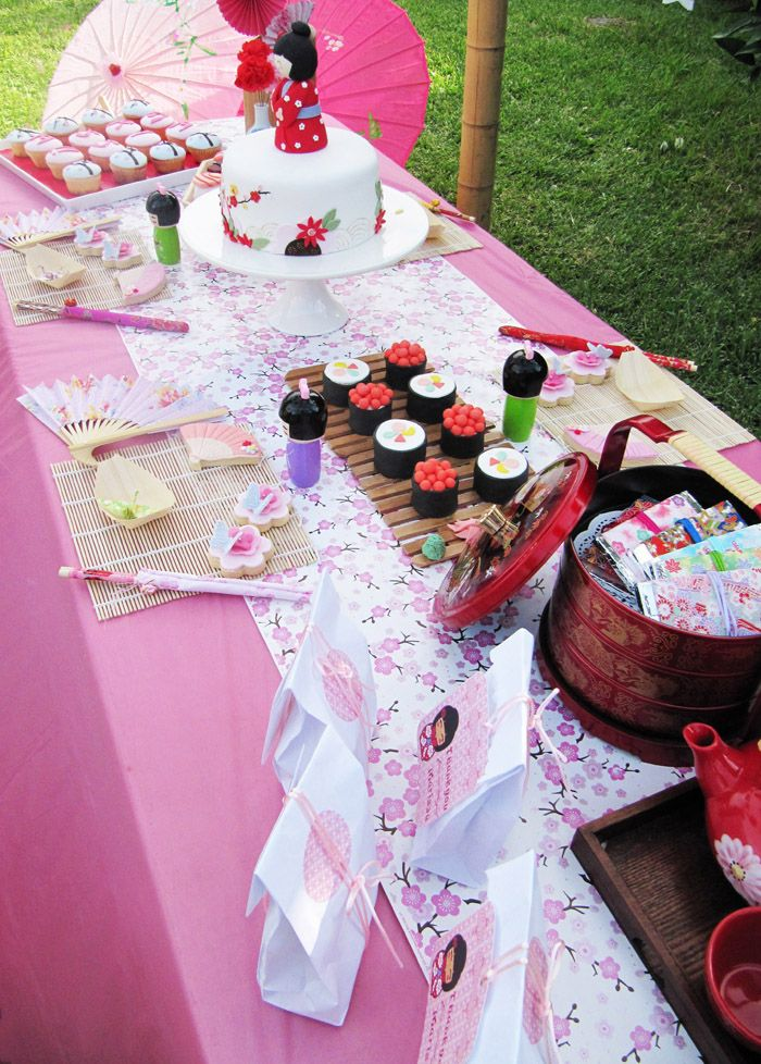 Lindo!: Gardens Party, Party'S, Kids Birthday Party, Garden Parties, Party Idea, Japanese Gardens, Themed Party, Japan Gardens, Desserts Tables