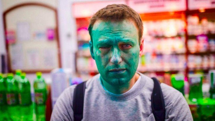 Нападение на Навального в Москве 27.04.17