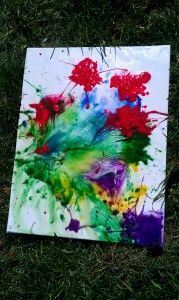 Water balloon painting!