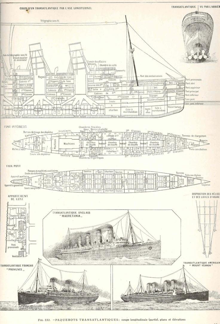 Rms Mauretania Deck Plans Cont Boats Planes