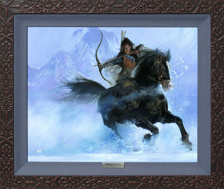 Mulan - The Point of Her Arrow - John Rowe - World-Wide-Art.com - #disney #disneyfineart #silverseries #johnrowe #mulan