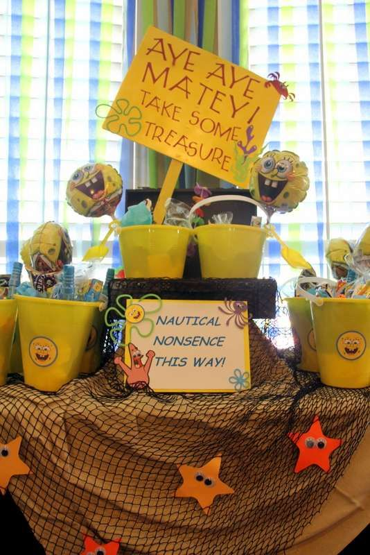 Spongebob Water Bash Birthday Party Ideas | Photo 1 of 25 | Catch My Party