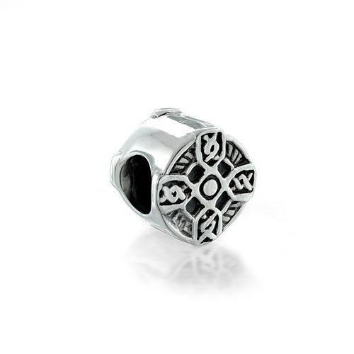 Bling Jewelry Celtic Cross Bead Sterling Silver Bead Pandora Compatible