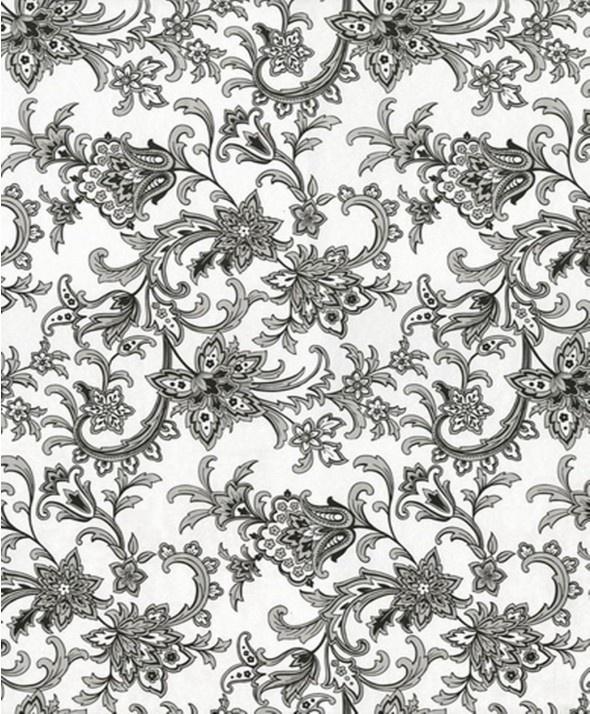 Damask flocked wallpaper