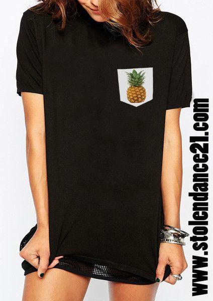 Pineapple Real Pocket Tee Crew Neck Top T shirt code50861