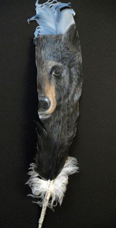More painted feathers...Galleries - Debra Otterstein Wildlife Artist