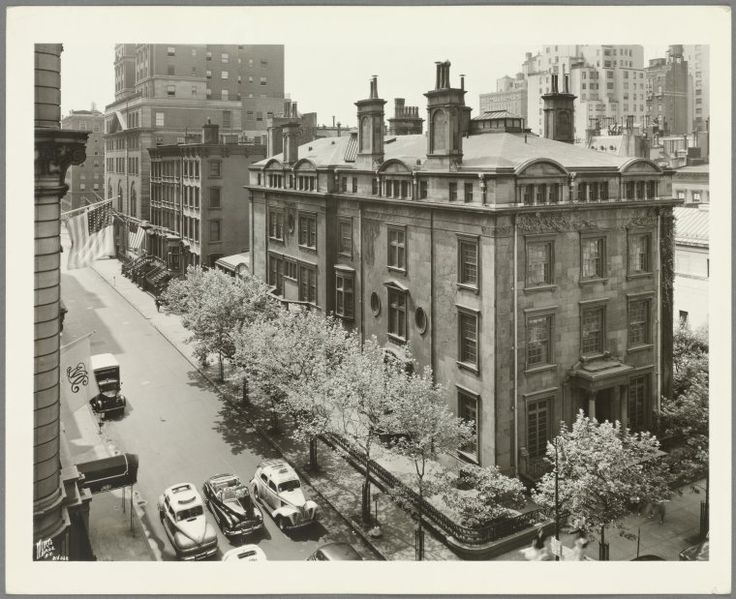 East 37th Street - Madison Avenue, NYC [J.P. Morgan Jr. House] - photographed by Wurts Brothers