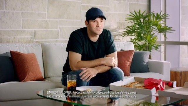 Tony Romo isn't in Super Bowl XLIX on Sunday, but he will be in a commercial that airs that day with a reminder of why Dallas isn't in the big game.