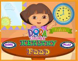 Dora Healthy #Food Online Game @ http://newscarymazegame.net/dora-healthy-food/
