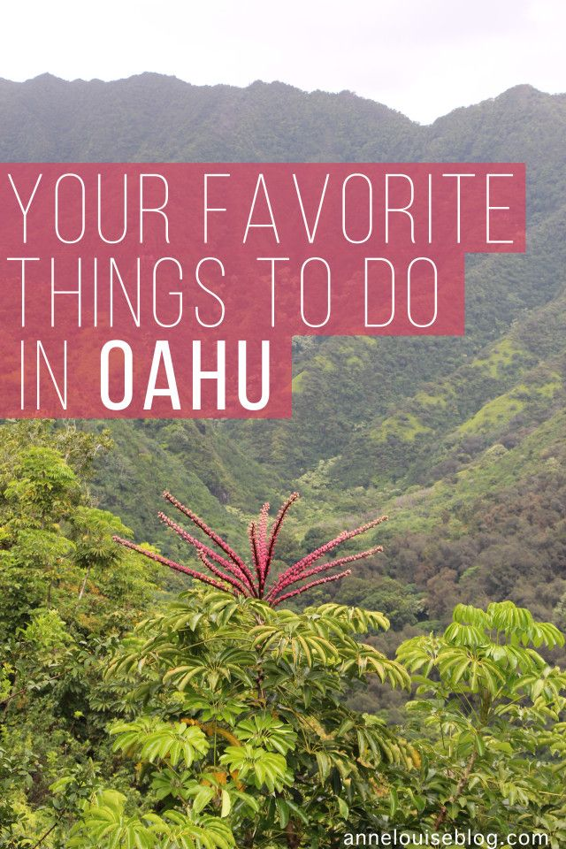 Your Favorite Things to do in Oahu at annelouiseblog.com #travel #hawaii