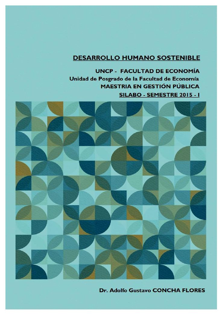 Silabo Desarrollo Humano Sostenible Adolfo Gustavo Concha Flores
