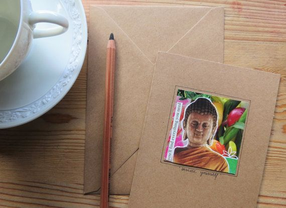 Handgemaakte kaart, collage kunst kaart, wenskaart, one of a kind, origineel, betaalbare kunst, mini collage