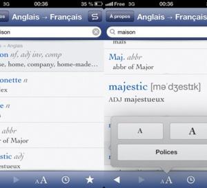 Adoptez le dictionnaire Robert et Collins sur iPhone
