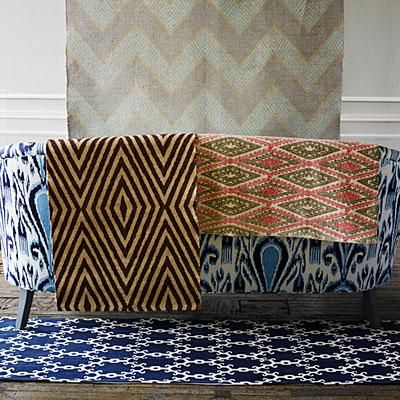 John Robshaw's dhurries are graphic and full of refreshing color combinations. | coastalliving.com