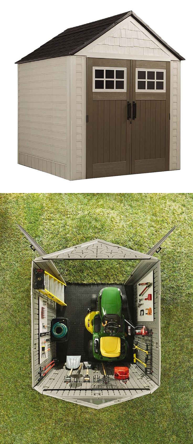 There's are good reasons this is one of The Home Depot's most popular storage sheds. It's the right size for storing commonly used yard equipment. It's super durable. And it looks great. Check this one out when you're ready to upgrade your back yard storage.