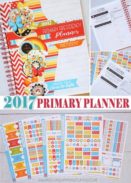 Calendar Ideas Primary : Printable primary presidency planner planning pages