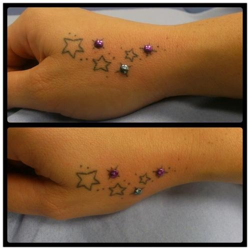Flower Tattoo With Dermal Piercing: 1000+ Images About Dermal Tattoos I Love These But Too