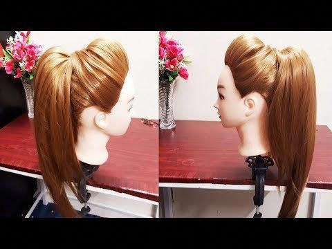 Messy High Ponytail With Puff Hairstyle Diy Easy Hairstyle For