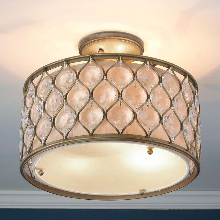16 w hourglass and crystal drum ceiling light 499 shades of light. Black Bedroom Furniture Sets. Home Design Ideas
