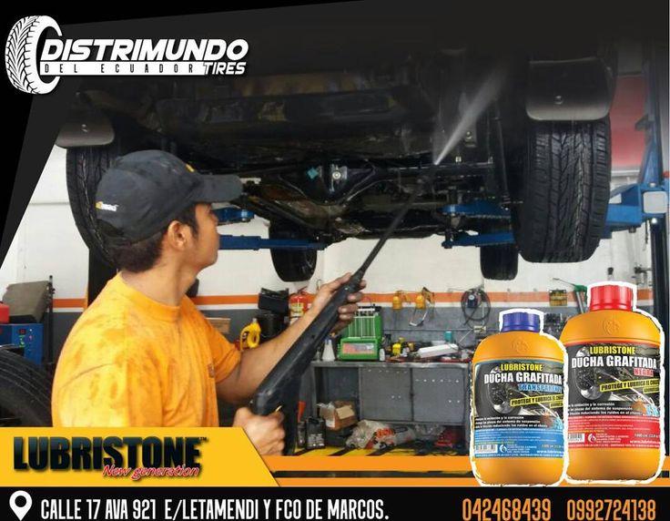 En @distrimundo_del_ecuador  ofrecemos los mejores productos con calidad y excelentes precios.  - - Previene la oxidación corrosión y deterioro a causa del salitre con el servicio de #DuchaGrafitada es importante ya que lúbrica el sistema de suspensión cauchos y empaques.  - VISÍTANOS: Calle 17ava 921 e/ Letamendi y Fco de Marcos. - #DistrimundodelEcuador #2017 #Guayaquil #Ecuador #593 #Jueves #Thursday #TBT  #throwbackthursday #mechanics  #lubristone #ducha #grafitada #lubrication…