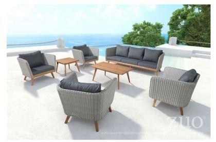 Zuo Modern Grace Bay Sofa Natural&Gray