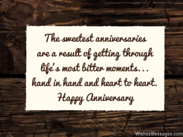Anniversary card message sweet relationship memories bitter life struggles