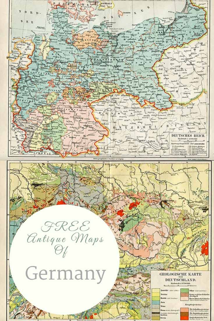 Map Of Old Germany.Free Pintable Old Maps Of Northern Europe Including Germany