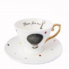 Vintage redesign tea cup