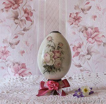 Большое пасхальное яйцо ' Розовая Пасха' - подарки на крещение, пасху. МегаГрад - online выставка-продажа авторской ручной работы