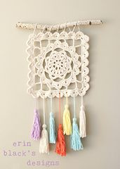 Ravelry: Dreaming of Granny, Granny Square Wall Hanging  pattern by Erin Black