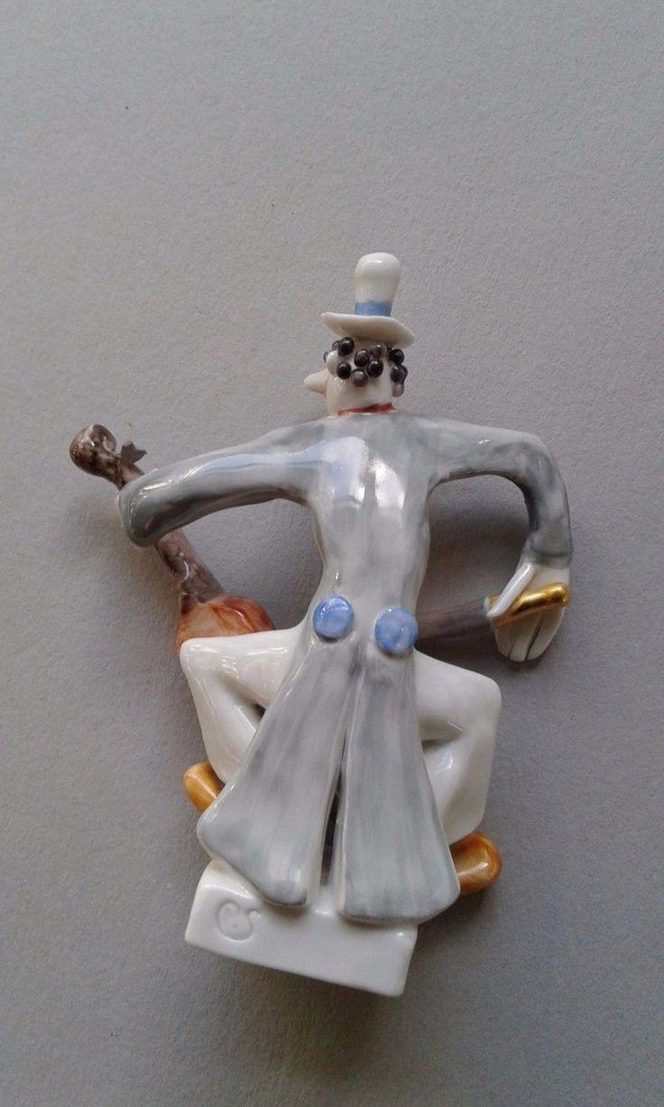 Rare Peter Strang Meissen porcelain clown band Cello figure | eBay