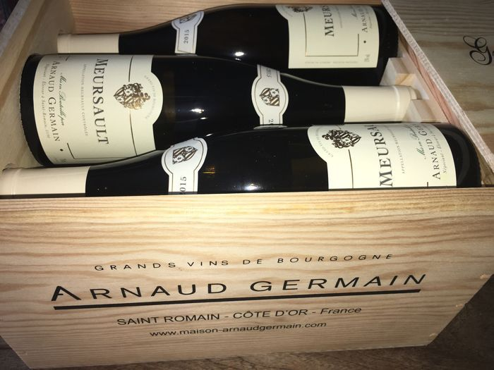 2015 Meursault Arnaud Germain Saint Romain - 6 flessen in OWC  2015 Meursault Arnaud Germain Saint Romain. 6 flessen in OWCMeursault Arnaud GermainTop van witte wijnen!6 flessen in goede conditie. Altijd gehandhaafd goed. In een klimaat gecontroleerd kelder.Zie de foto's om te vormen van uw eigen indruk.Ingeschreven en verzekerde verzending is opgenomen.Bekijk mijn andere partijen ook door te klikken op mijn naam aan de linkerkant van het scherm.  EUR 195.00  Meer informatie