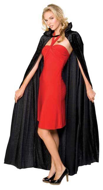 Dracula Cape Black Velvet Crush |  horror-shop.com